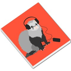 Funny Music Lover Ferret Small Memo Pads