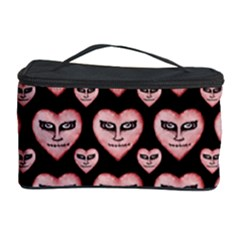 Angry Devil Hearts Seamless Pattern Cosmetic Storage Cases