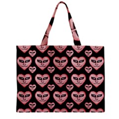 Angry Devil Hearts Seamless Pattern Zipper Tiny Tote Bags