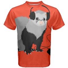 Funny music lover ferret Men s Cotton Tee