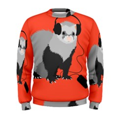 Funny Music Lover Ferret Men s Sweatshirts