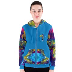 the mocking of chance by saprillika Women s Zipper Hoodie
