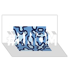 Blue Maths Signs #1 Mom 3d Greeting Cards (8x4)