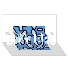 Blue maths signs BEST BRO 3D Greeting Card (8x4)