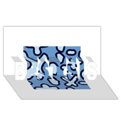 Blue Maths Signs Best Sis 3d Greeting Card (8x4)