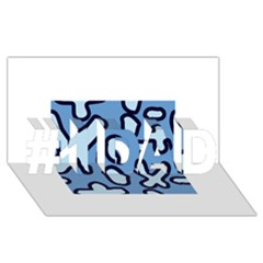 Blue maths signs #1 DAD 3D Greeting Card (8x4)