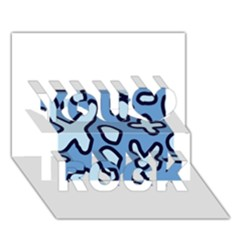 Blue Maths Signs You Rock 3d Greeting Card (7x5)