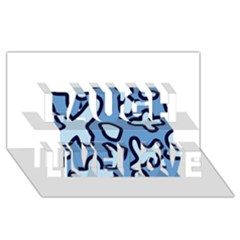 Blue maths signs Laugh Live Love 3D Greeting Card (8x4)
