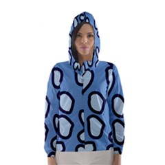 Blue maths signs Hooded Wind Breaker (Women)