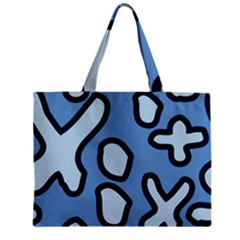 Blue Maths Signs Zipper Tiny Tote Bags