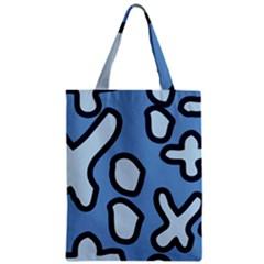 Blue Maths Signs Zipper Classic Tote Bags