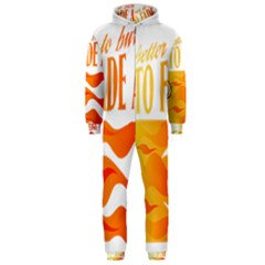 its better to burn out than to fade away Hooded Jumpsuit (Men)