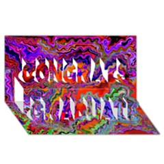 Happy 3 Red Congrats Graduate 3D Greeting Card (8x4)