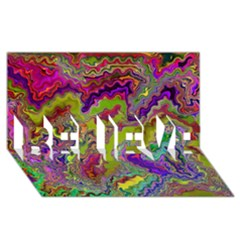Happy 3 BELIEVE 3D Greeting Card (8x4)