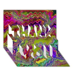 Happy 3 THANK YOU 3D Greeting Card (7x5)