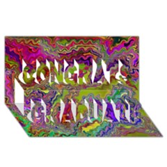 Happy 3 Congrats Graduate 3D Greeting Card (8x4)