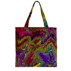 Happy 3 Zipper Grocery Tote Bags