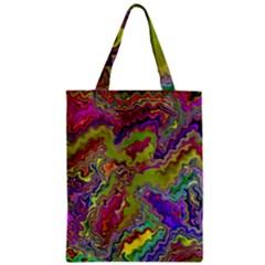 Happy 3 Zipper Classic Tote Bags