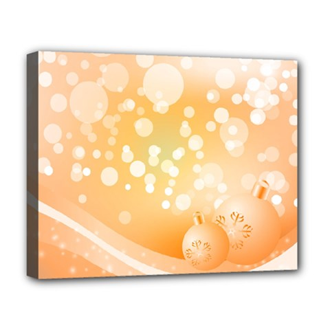 Wonderful Christmas Design With Sparkles And Christmas Balls Deluxe Canvas 20  x 16