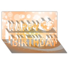 Wonderful Christmas Design With Sparkles And Christmas Balls Happy Birthday 3D Greeting Card (8x4)