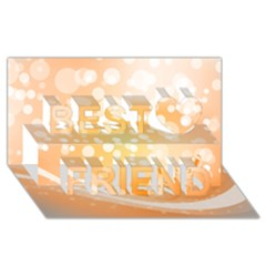 Wonderful Christmas Design With Sparkles And Christmas Balls Best Friends 3d Greeting Card (8x4)