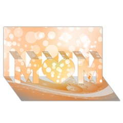 Wonderful Christmas Design With Sparkles And Christmas Balls Mom 3d Greeting Card (8x4)