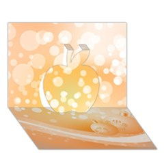 Wonderful Christmas Design With Sparkles And Christmas Balls Apple 3D Greeting Card (7x5)