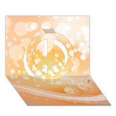Wonderful Christmas Design With Sparkles And Christmas Balls Peace Sign 3D Greeting Card (7x5)