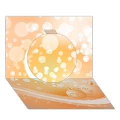 Wonderful Christmas Design With Sparkles And Christmas Balls Circle 3D Greeting Card (7x5)