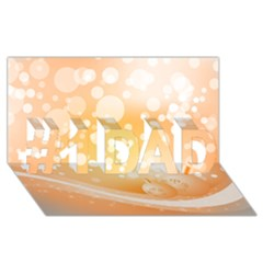 Wonderful Christmas Design With Sparkles And Christmas Balls #1 DAD 3D Greeting Card (8x4)