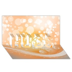 Wonderful Christmas Design With Sparkles And Christmas Balls Hugs 3d Greeting Card (8x4)