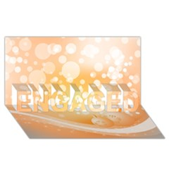 Wonderful Christmas Design With Sparkles And Christmas Balls ENGAGED 3D Greeting Card (8x4)
