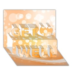 Wonderful Christmas Design With Sparkles And Christmas Balls Get Well 3D Greeting Card (7x5)