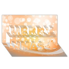 Wonderful Christmas Design With Sparkles And Christmas Balls Merry Xmas 3D Greeting Card (8x4)