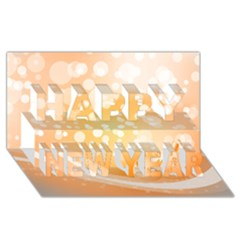 Wonderful Christmas Design With Sparkles And Christmas Balls Happy New Year 3d Greeting Card (8x4)