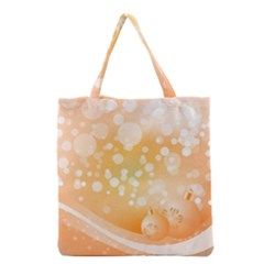 Wonderful Christmas Design With Sparkles And Christmas Balls Grocery Tote Bags