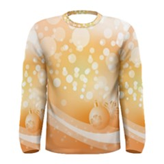 Wonderful Christmas Design With Sparkles And Christmas Balls Men s Long Sleeve T-shirts