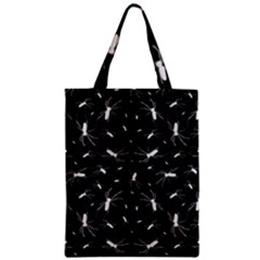 Spiders Seamless Pattern Illustration Zipper Classic Tote Bags