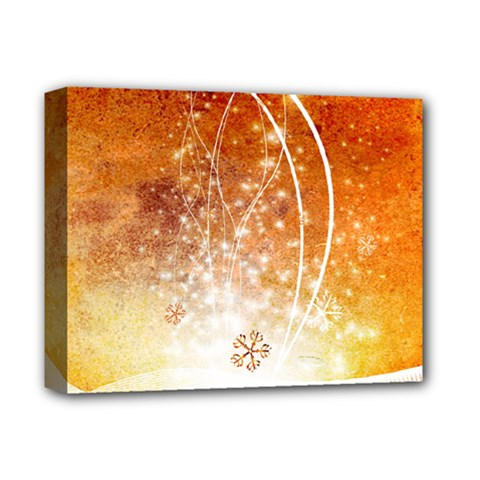Wonderful Christmas Design With Snowflakes  Deluxe Canvas 14  x 11