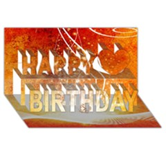 Wonderful Christmas Design With Snowflakes  Happy Birthday 3d Greeting Card (8x4)