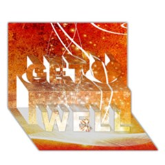Wonderful Christmas Design With Snowflakes  Get Well 3d Greeting Card (7x5)