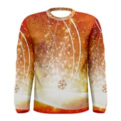Wonderful Christmas Design With Snowflakes  Men s Long Sleeve T Shirts