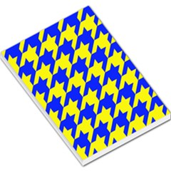 Houndstooth 2 Blue Large Memo Pads