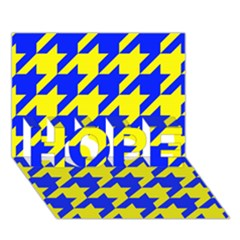 Houndstooth 2 Blue Hope 3d Greeting Card (7x5)