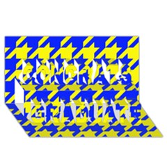 Houndstooth 2 Blue Congrats Graduate 3D Greeting Card (8x4)