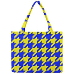 Houndstooth 2 Blue Tiny Tote Bags
