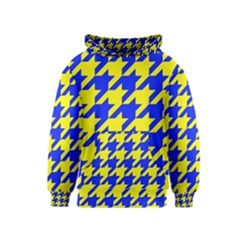 Houndstooth 2 Blue Kid s Pullover Hoodies