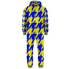 Houndstooth 2 Blue Hooded Jumpsuit (men)
