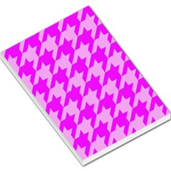 Houndstooth 2 Pink Large Memo Pads