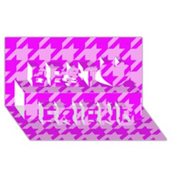 Houndstooth 2 Pink Best Friends 3D Greeting Card (8x4)